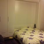 Zidni krevet Belo visoki sjaj
